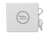 "Leder CD/USB-Case  ""Wedding Memories"""